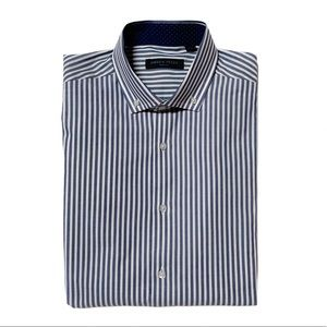 Andrew Fezza Blue & White Stripe Dress Shirt